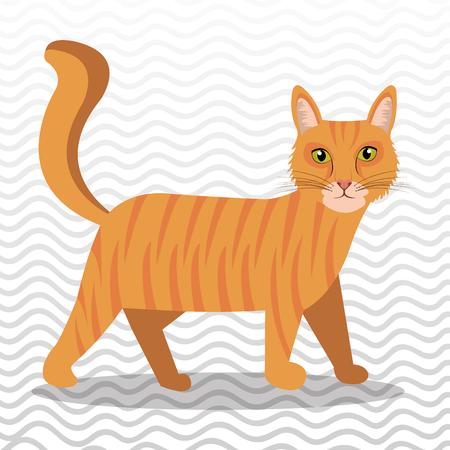 Diseño lindo del gato, ejemplo gráfico del vector eps10 Foto de archivo - 53669009