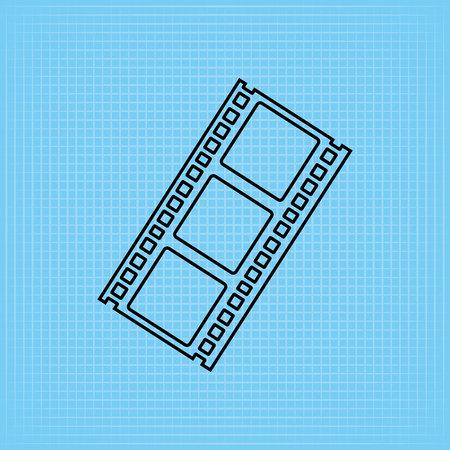 entertainment icon: filmed entertainment icon design, vector illustration eps10 graphic