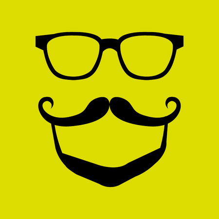 fake mustaches: mustache and glasses icon design, Vector illustration Illustration