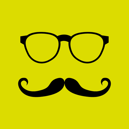 fake mustaches: mustache and glasses icon design, Vector illustration Illustration