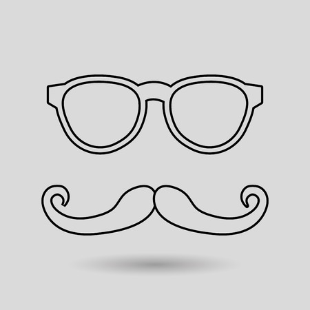fake mask: mustache and glasses icon design, Vector illustration Illustration