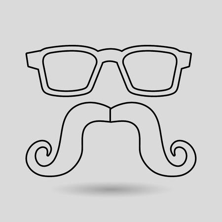 fake mask: mustache and glasses icon design, Vector illustration Illustration