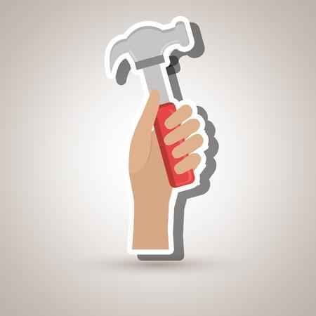 construction companies: construction equipment design, vector illustration eps10 graphic Illustration