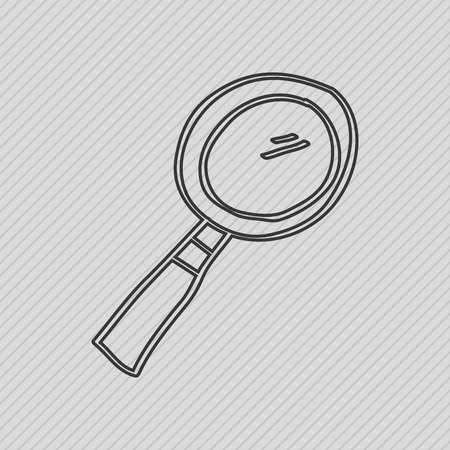 scrutiny: magnifying glass design, vector illustration eps10 graphic Illustration