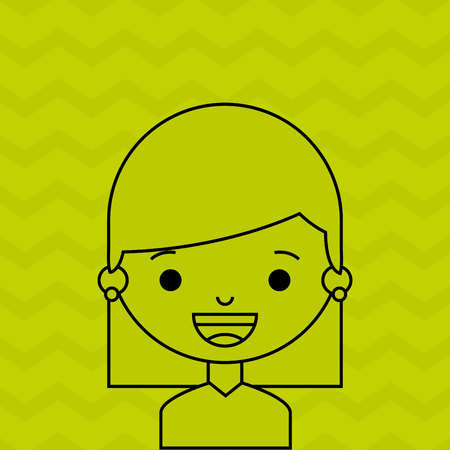 fashion silhouette: female avatar design, vector illustration eps10 graphic Illustration