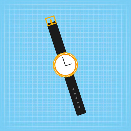 girl with a wristwatch: feminine fashion design, vector illustration eps10 graphic Illustration