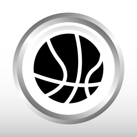 balon de basketball: deportes diseño práctica, ejemplo gráfico del vector eps10