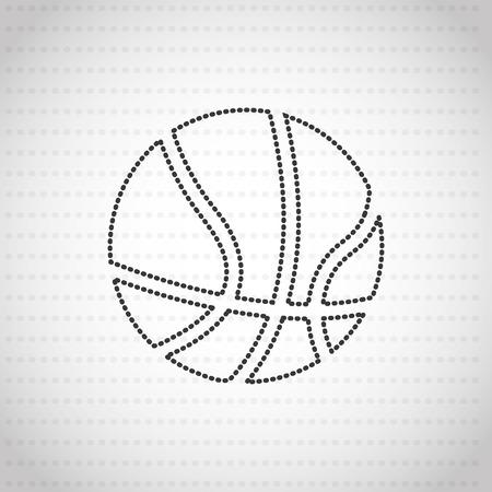 balon de basketball: deportes dise�o pr�ctica, ejemplo gr�fico del vector eps10