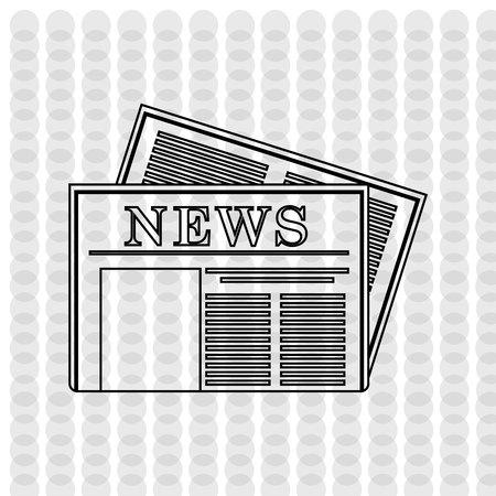 newspaper icon: newspaper icon design, vector illustration eps10 graphic