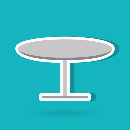 tavolo design rotondo, illustrazione grafica vettoriale eps10 Vettoriali