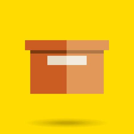 distribution board: box carton design, vector illustration eps10 graphic