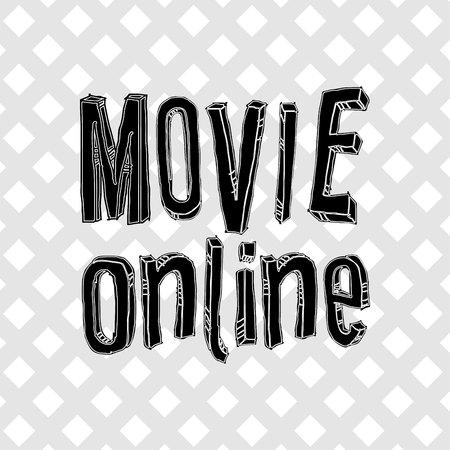 movie online design, vector illustration eps10 graphic Illustration