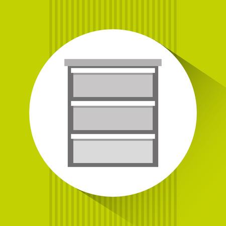 attestation: office documents design, vector illustration eps10 graphic Illustration