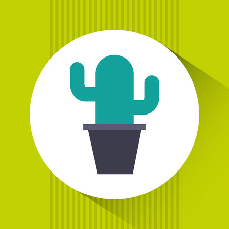 design office: office cactus design, vector illustration Illustration