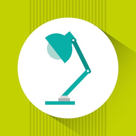 design office: office lamp design, vector illustration Illustration