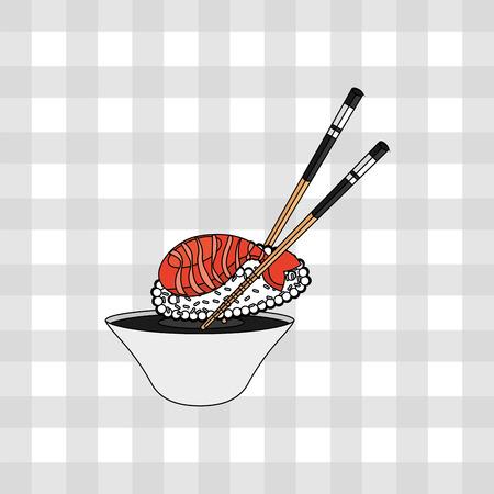 diseño de la cultura japonesa, ilustración vectorial