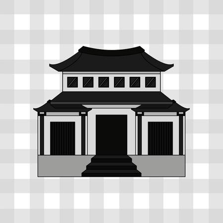 silhouette maison: conception de la culture japonaise, vecteur illustration graphique eps10 Illustration