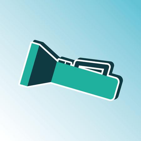 flash light: flash light icon  design Illustration