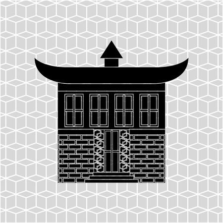 japanese culture: Japanese culture design Illustration