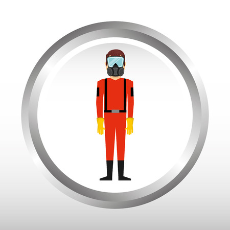 seguridad industrial: dise�o de la seguridad industrial, ejemplo gr�fico del vector eps10 Vectores