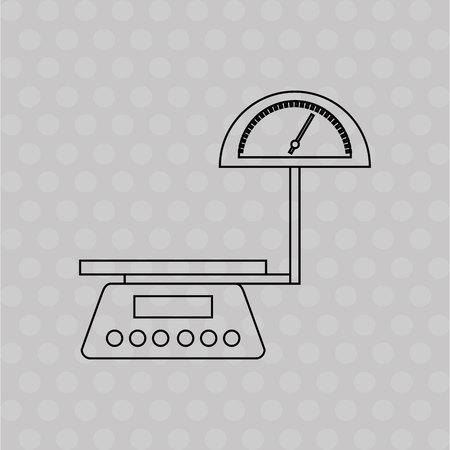 weigh machine: measure weight design, vector illustration eps10 graphic