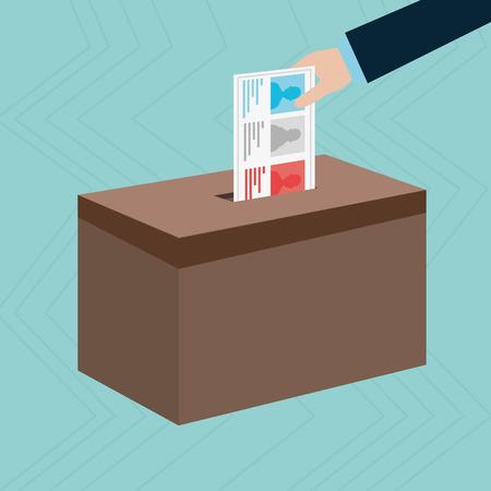 elezioni icona del design, illustrazione grafica vettoriale eps10