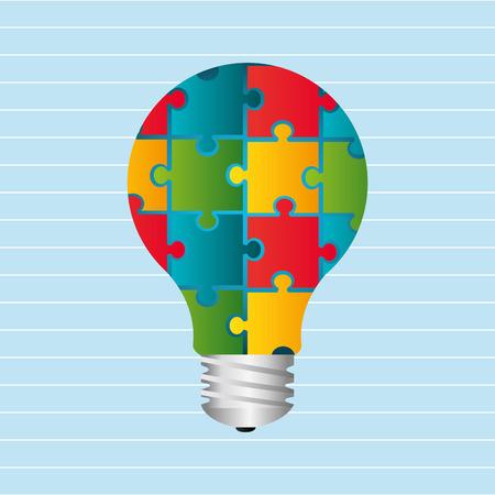 assemble: puzzle icon design, vector illustration eps10 graphic