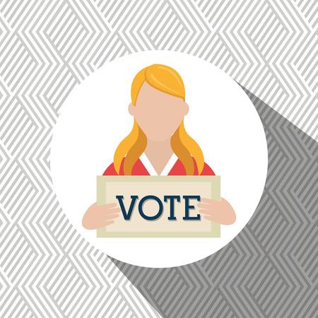 polling: elections concept design, vector illustration eps10 graphic Illustration
