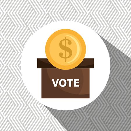 voter: elections concept design, vector illustration eps10 graphic Illustration