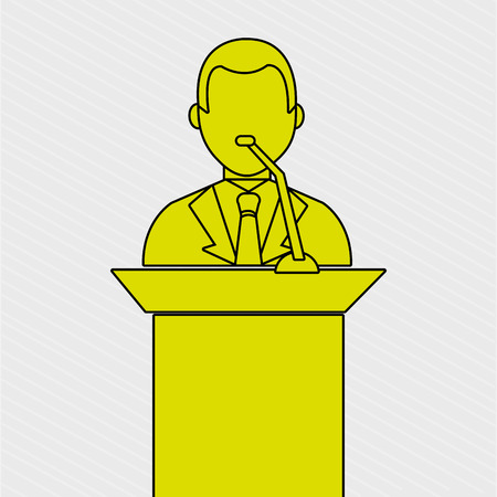 congresses: elections icon design, vector illustration eps10 graphic