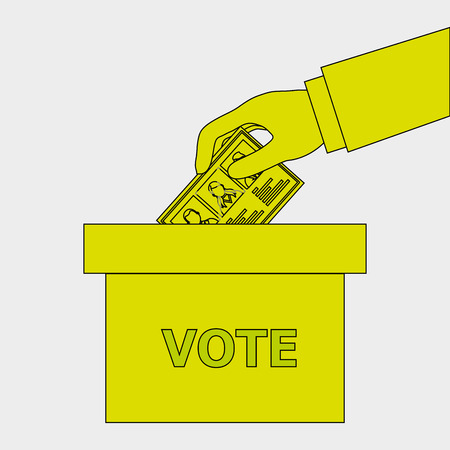 urn: elections icon design, vector illustration eps10 graphic