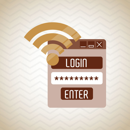 security alarm: security system design, vector illustration eps10 graphic Illustration