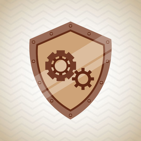 protection gear: security system design, vector illustration eps10 graphic Illustration