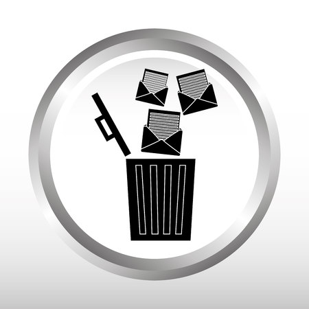 e waste: email concept design, vector illustration eps10 graphic