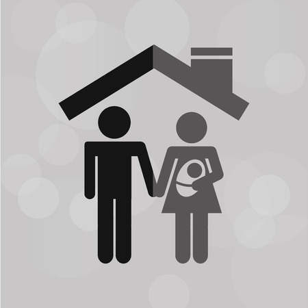 family policy: insurance concept design, vector illustration eps10 graphic