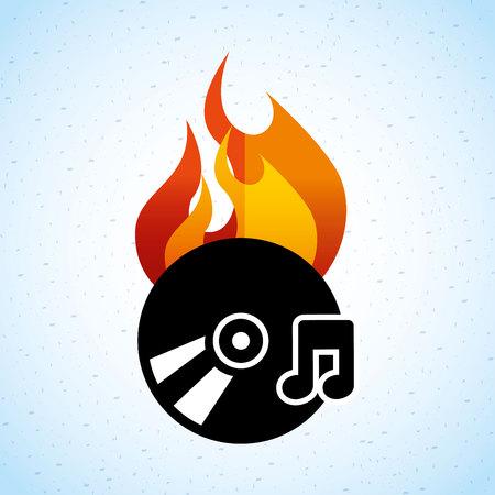 cd r: app burn cd design, vector illustration eps10 graphic