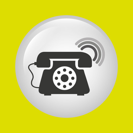 telephonic service design, vector illustration eps10 graphic Illustration