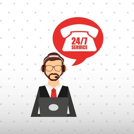 mobile operators: customer service design, vector illustration eps10 graphic Illustration