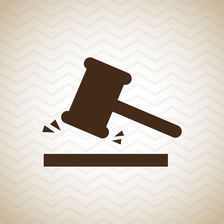 tribunal: justice concept design, vector illustration eps10 graphic