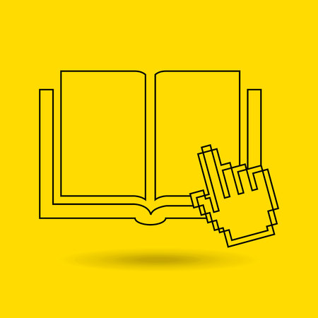 e book reader: electronic book design, vector illustration eps10 graphic