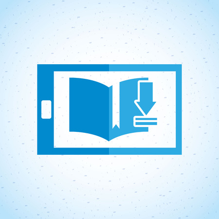 e book device: electronic book design, vector illustration eps10 graphic