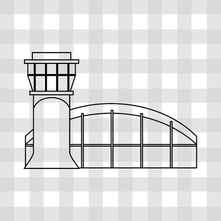 gente aeropuerto: aeropuerto diseño de la terminal, ejemplo gráfico del vector eps10