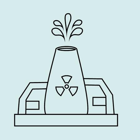 atomic symbol: energy industry design, vector illustration eps10 graphic Illustration