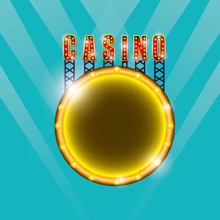 diseño de icono de juego de casino, ilustración vectorial