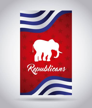 republican party: republican  party design, vector illustration eps10 graphic