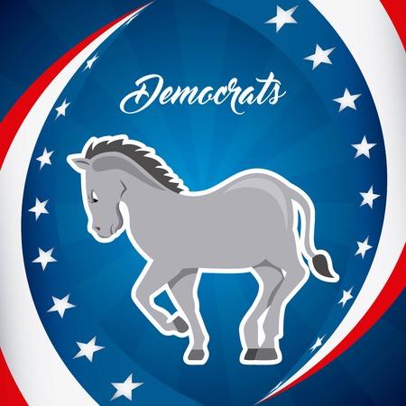 democrat party: Democrat party design, vector illustration eps10 graphic