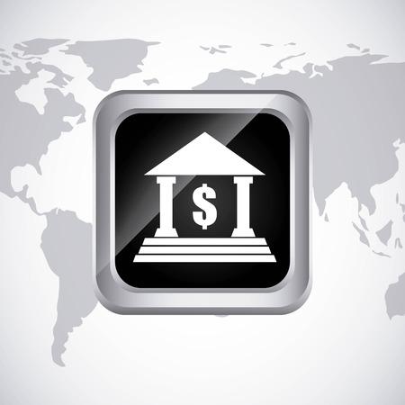 money online: bank online design, vector illustration eps10 graphic Illustration
