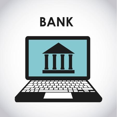 retail place: bank online design, vector illustration eps10 graphic Illustration