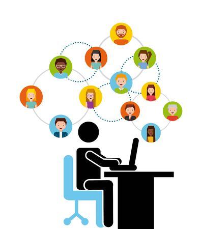 human resources ontwerp, vectorillustratie eps10 grafische