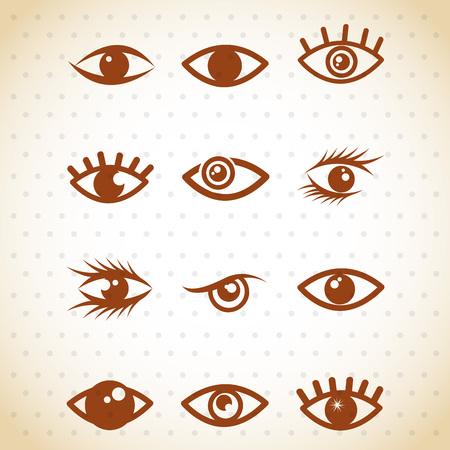 stoned: set eyes design, vector illustration eps10 graphic